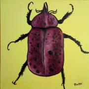 Beedles - Ringo Art Greeting Card by NC Artist Scott Plaster