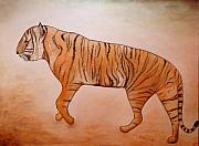 Mystic Tiger Art Greeting Card by NC Artist Scott Plaster