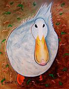 Neon Duck Art Greeting Card by NC Artist Scott Plaster