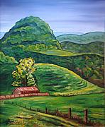 Tazewell Mountain Art Greeting Card by NC Artist Scott Plaster